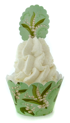 Bade Cupcake Badepraline Maiglöckchen * Lily of the Valley * 30g