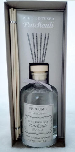 Patchouli 450ml Reed Diffuser Luxury Home Fragrance Scent Room Freshener