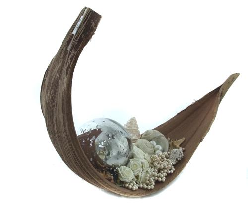 1 17 m kokosblatt kokosnussblatt dekoschale dekoblatt for Holzschale dekorieren