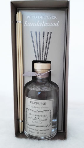 Sandalwood 450ml Reed Diffuser Luxury Home Fragrance Scent Room Freshener