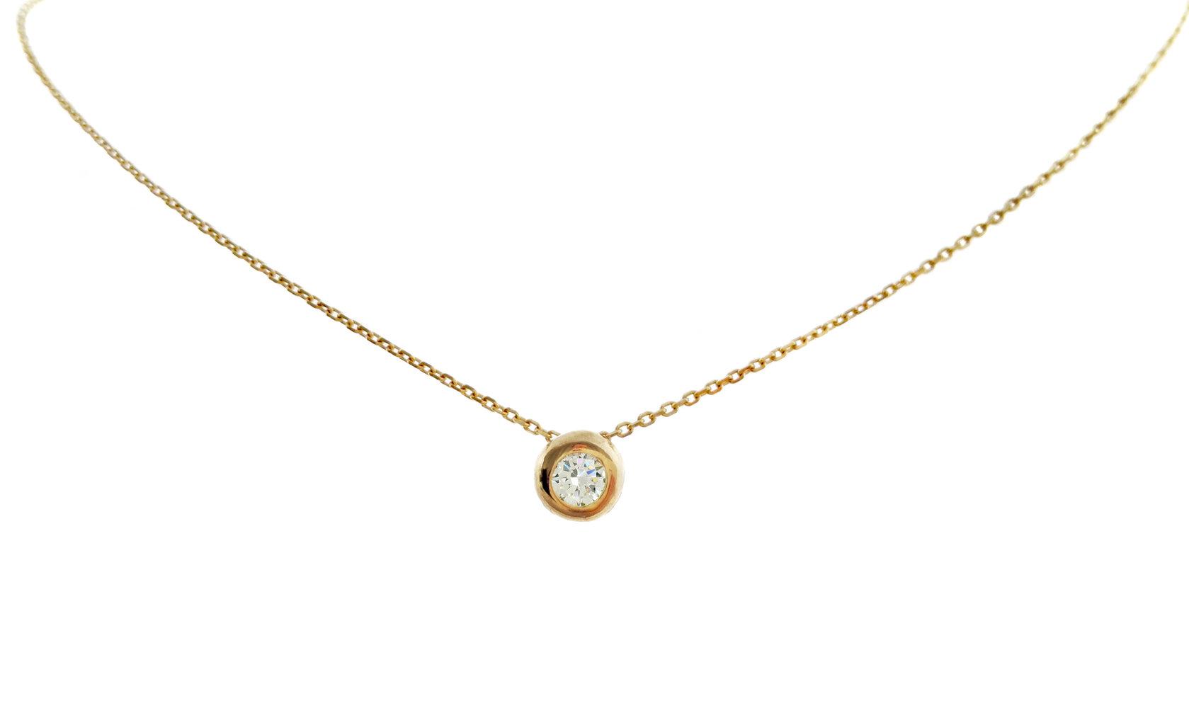 echt Gold 8k 333 Kette Collier CZ Zirkonia Solitär Halskette Gliederkette Schmuck